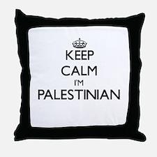 Keep Calm I'm Palestinian Throw Pillow