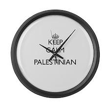 Keep Calm I'm Palestinian Large Wall Clock