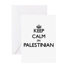 Keep Calm I'm Palestinian Greeting Cards