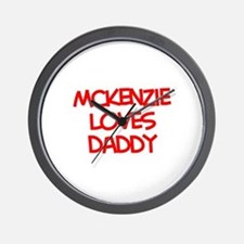 Mckenzie Loves Daddy Wall Clock