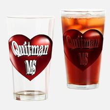 Quitman, MS Heart Drinking Glass