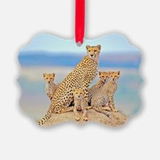 Cheetah Family Ornament