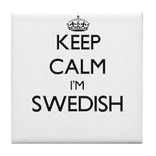 Keep Calm I'm Swedish Tile Coaster