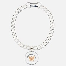 MS Butterfly 6.1 Charm Bracelet, One Charm
