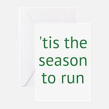 season to run Greeting Cards