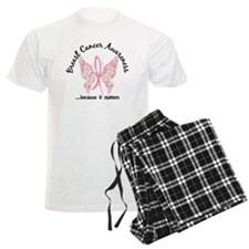 Breast Cancer Butterfly 6.1 Pajamas