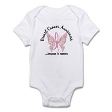 Breast Cancer Butterfly 6.1 Infant Bodysuit