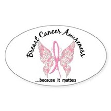 Breast Cancer Butterfly 6.1 Decal