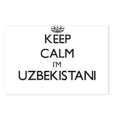 Keep Calm I'm Uzbekistani Postcards (Package of 8)