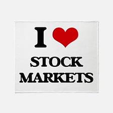 I love Stock Markets Throw Blanket