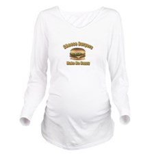 Cheese Burgers Desig Long Sleeve Maternity T-Shirt