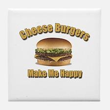 Cheese Burgers Design 1b Tile Coaster