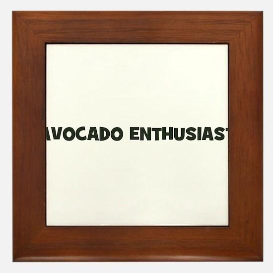 avocado enthusiast Framed Tile