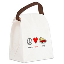 Peace Love Pie Canvas Lunch Bag