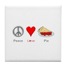 Peace Love Pie Tile Coaster