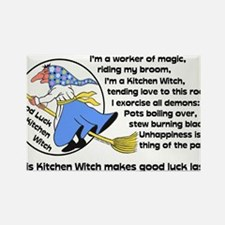 Funny Witch Rectangle Magnet (10 pack)