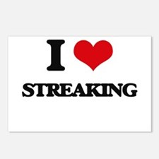 I love Streaking Postcards (Package of 8)
