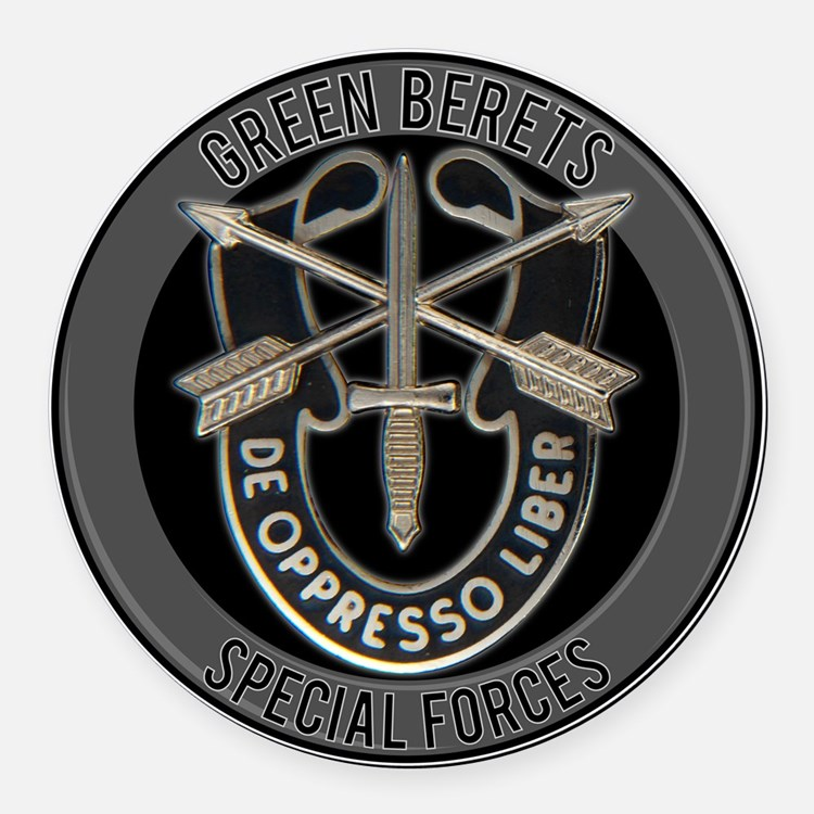 Special Forces Green Berets Round Car Magnet