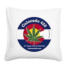 Colorado 420 Square Canvas Pillow