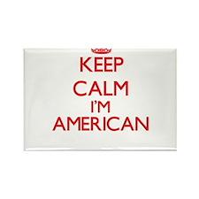 Keep Calm I'm American Magnets