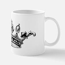 Crown Black White Centered Mug