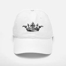 Crown Black White Centered Baseball Baseball Cap