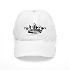 Crown Black White Centered Baseball Cap