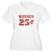 Valentine's Kisses 25 Cents Plus Size T-Shirt