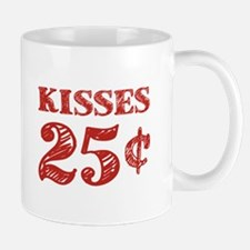 Valentine's Kisses 25 Cents Mugs