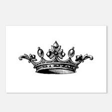 Crown Black White Centere Postcards (Package of 8)