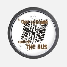 Under The Bus Wall Clock
