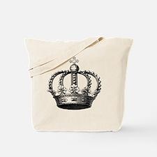 King's Crown Black White Tote Bag