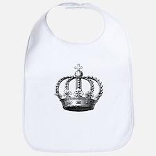 King's Crown Black White Bib