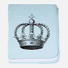 King's Crown Black White baby blanket