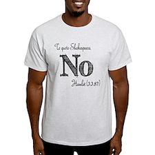Quote Hamlet No T-Shirt