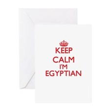 Keep Calm I'm Egyptian Greeting Cards