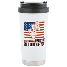 Unique Red white and blue Travel Mug