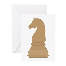 Chess Piece Knight Greeting Cards