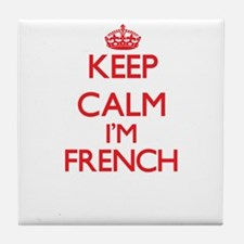Keep Calm I'm French Tile Coaster