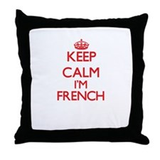 Keep Calm I'm French Throw Pillow