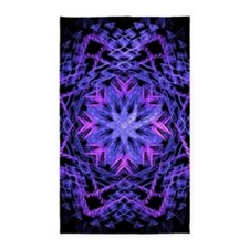 Pretty Purple Fractal Area Rug