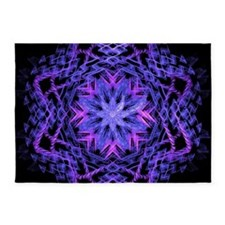 Pretty Purple Fractal 5'x7'Area Rug