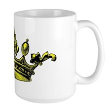 Crown Yellow Black Mug