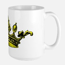 Crown Yellow Black Mug