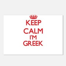 Keep Calm I'm Greek Postcards (Package of 8)