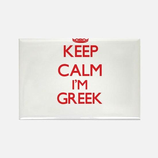 Keep Calm I'm Greek Magnets