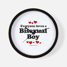 Everyone loves a Bisexual boy Wall Clock