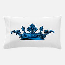 Crown Light Blue Black Pillow Case