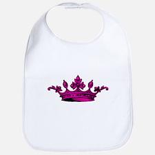 Crown Pink Black Bib