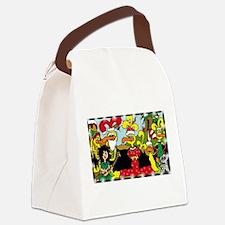 Cute Ebooks Canvas Lunch Bag